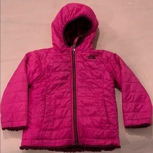 North Face pink reversible coat